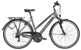 Trekkingbike Pegasus Piazza 28 Zoll 21 Gang Kettenschaltung silbergrau/grün