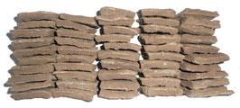 50 petites galettes de bouse de vache séchée 8x 4 cm