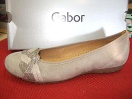 Gabor Fashion Ballerina Visone/torba/fango, 20mm