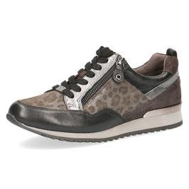 Caprice Sneaker Grey-Leo,Leder Comfort Weite G-H, mit seitlichem Reißverschluß