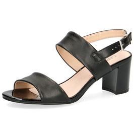 Caprice Fashion Sandalette Nappaleder Schwarz 50mm