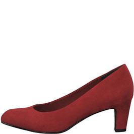 Tamaris Pumps Lipstick Rot, mit weichem SoftGel-Fußbett,Absatz 45mm
