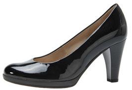 Gabor Fashion Pumps Lack Schwarz 70mm Plateausohle