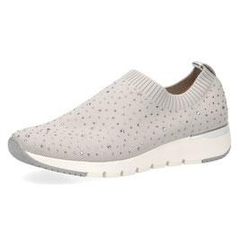 Caprice Sneaker Silber/Grau mit Strasssteinen,Comfort Weite G-H