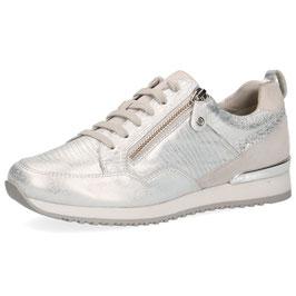 Caprice Sneaker Silver,Comfort Weite G-H, mit seitlichem Reißverschluß