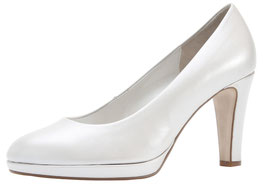 Gabor Fashion Pumps Offwhite Perlato 70mm-Plateau Brautschuhe