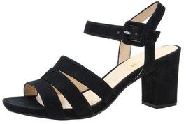 Gabor Fashion Sandalette Nubuk Schwarz 55mm