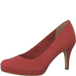 Tamaris Pumps Lipstick Rot, mit weichem SoftGel-Fußbett,Absatz 60mm