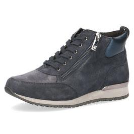 Caprice Sneaker-High Blau Shiny,Comfort Weite G-H, Reißverschlüsse auf Innen-u.Aussenseite