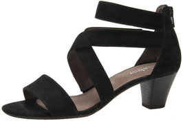 Gabor Fashion Sandalette Nubuk Schwarz 50mm