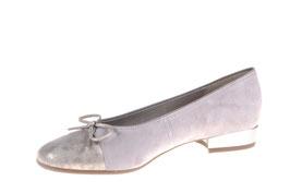 Ara Ballerina Metallocalf- Platin-Taupe Weite F1/2