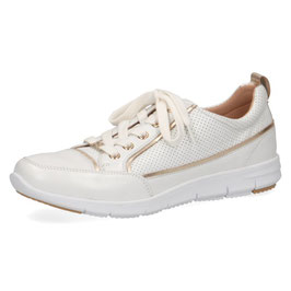 Caprice Sneaker Weiss-Nappa Leder,Comfort Weite G-H