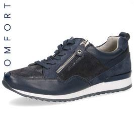 Caprice Sneaker Blau-Combi,Comfort Weite G-H, mit seitlichem Reißverschluß