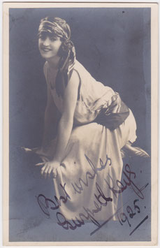 Gwyneth Keys. Dancer, comedienne. Signed postcard