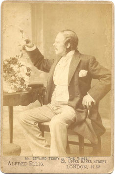 "Edward Terry in ""The Times"" Alfred Ellis cabinet photo"