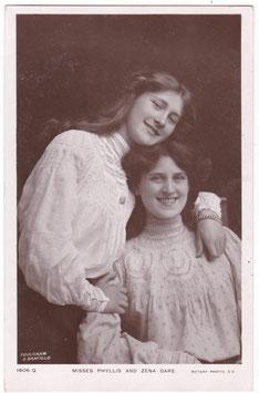 Phyllis and Zena Dare. Rotary 1606 Q