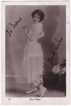 Ann Penn. Signed postcard