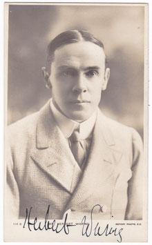Herbert Waring. Rotary 114 B. Signed postcard