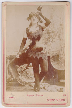 Agnes Evans. Newsboy Cabinet photo