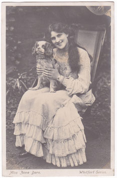 Zena Dare with dog. Whitfort Series