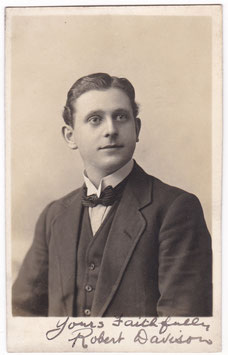 Robert Davison. Signed postcard