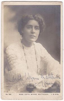 Edith Wynne Matthison. Beagles 361. Signed postcard
