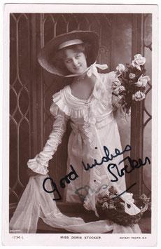 Doris Stocker. Rotary 1736 L. Signed postcard