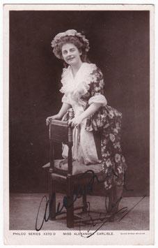 Alexandra Carlisle. Philco Series 3370 D. Signed postcard