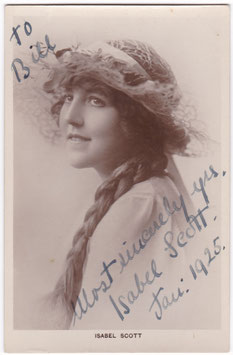 Isabel Scott. Singer. Signed postcard