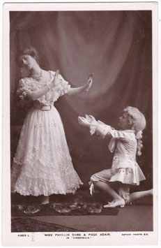 Phyllis Dare and Page Adair in Cinderella. Rotary 4369 L