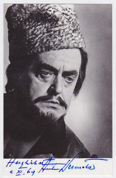 Anton Dermota. Signed postcard