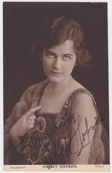 Violet Hopson. Broadwest films. Signed postcard