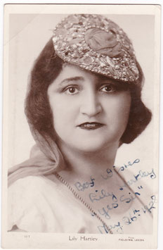 Lily Hartley. Comedienne. 1928. Fielding 1013. Signed postcard