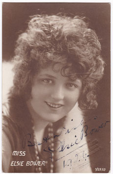 Elsie Bower. Comedienne. 0/5950. Signed postcard