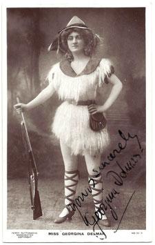 Georgina Delmar. Guttenberg 29 R. Signed postcard