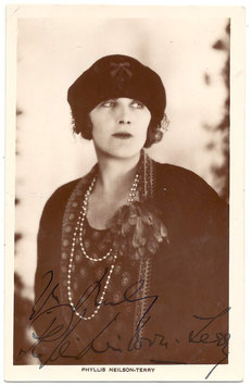 Phyllis Neilson-Terry. Signed postcard. 2