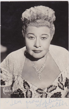 Sophie Tucker. Signed postcard