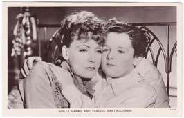 Freddie Bartholomew and Greta Garbo. Film partners P 176
