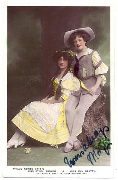 "May Beatty ""Dick Whittington"" Philco 3446 C. Signed postcard"
