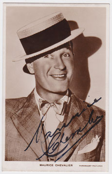 Maurice Chevalier. Paramount Pictures Signed postcard