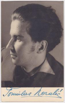 Tomislav Neralic. Bass baritone. Signed postcard. 2
