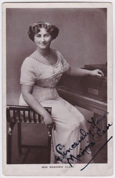 Marjorie Clark. Pianist. Signed postcard