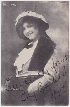 Lily Leonhard. Soprano vocalist. Imperial. Signed postcard