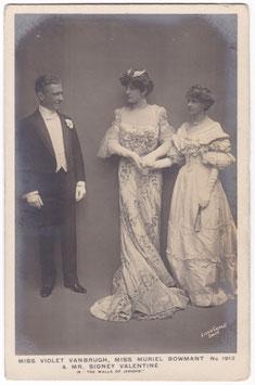 "Violet Vanbrugh. Muriel Beaumont. Sidney Valentine ""The Walls Of Jericho"" Rapid 1912"
