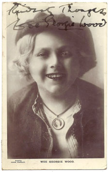 Wee Georgie Wood. Signed postcard