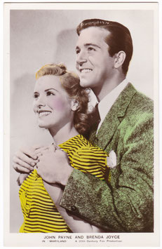 John Payne and Brenda Joyce in Maryland. Film partners PC 320