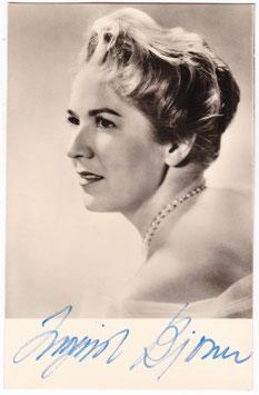 Ingrid Bjoner. Soprano. Signed postcard