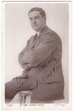 Leonard Mackay. Guttenberg 1218. Signed postcard