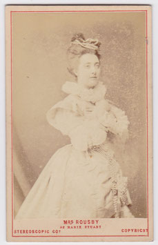 Clara Rousby as Marie Stuart. London Stereoscopic cdv