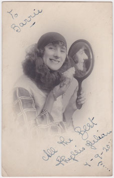 Phyllis Julian. Comedienne dancer. 1920. Signed postcard